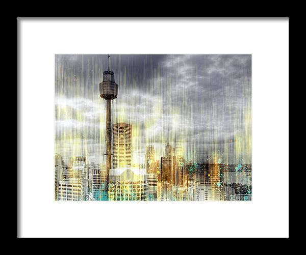 Australia Framed Print featuring the photograph City-art Sydney Rainfall by Melanie Viola
