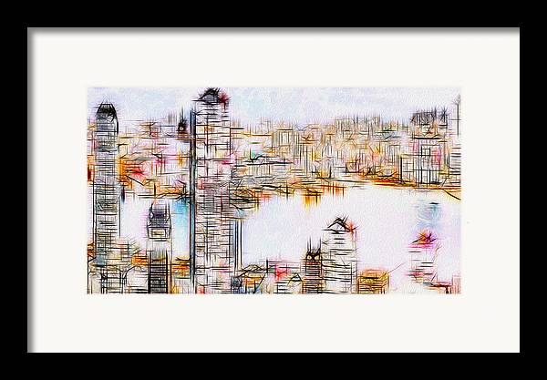 City Framed Print featuring the painting City By The Bay by Jack Zulli