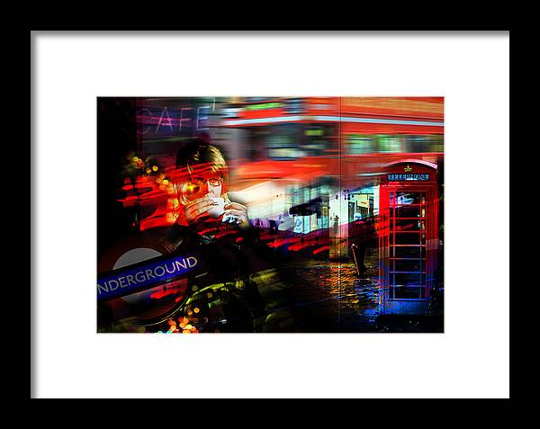 Cafe Framed Print featuring the photograph London City Cafe Culture by Mal Bray