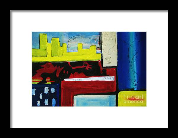 Painting Framed Print featuring the painting City Life by Jeff Barrett