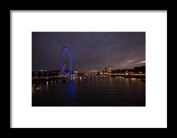 Westminster Framed Print featuring the photograph City Lights by Dawn OConnor