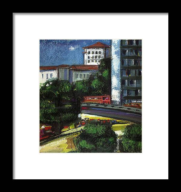 City Framed Print featuring the painting City by Nato Gomes