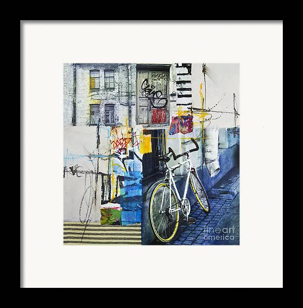 Collage Framed Print featuring the mixed media City Poetry by Elena Nosyreva