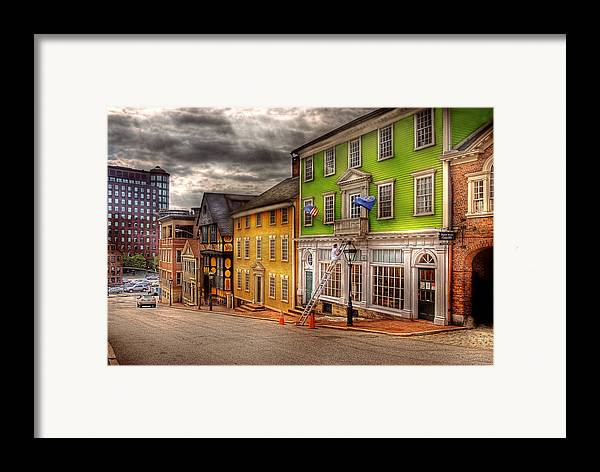 Savad Framed Print featuring the photograph City - Providence Ri - Thomas Street by Mike Savad