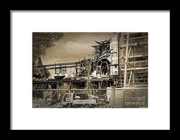 Ruins Framed Print featuring the photograph City Ruins by Nareeta Martin