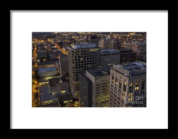 Suntrust Framed Print featuring the photograph City Streets by Debra K Roberts