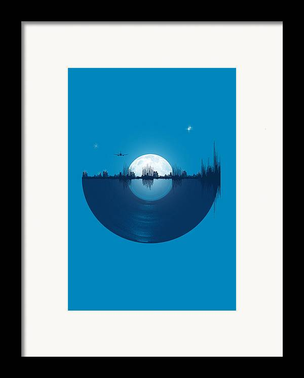 City Framed Print featuring the digital art City Tunes by Neelanjana Bandyopadhyay