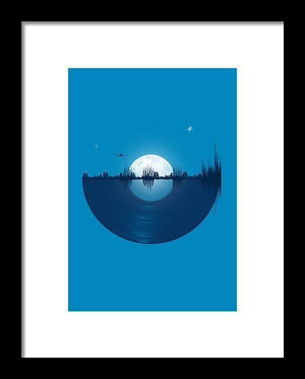 City Framed Print featuring the digital art City Tunes by Neelanjana Bandyopadhyay