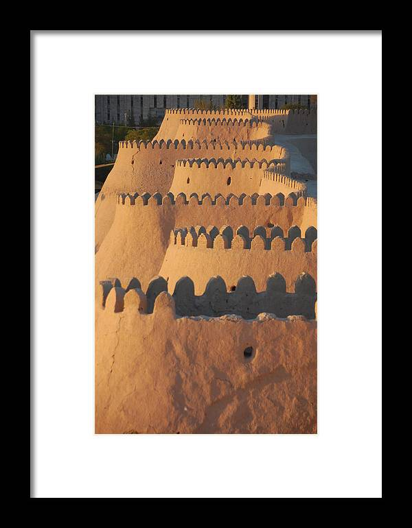 Walls Framed Print featuring the photograph City Walls Of Khiva by Kendell Timmers
