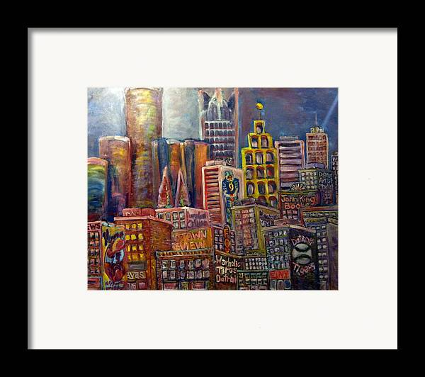 Framed Print featuring the painting Cityscape 9 by Don Thibodeaux
