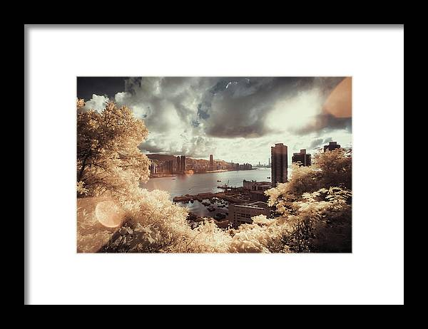 Treetop Framed Print featuring the photograph Cityscape In Dream by D3sign