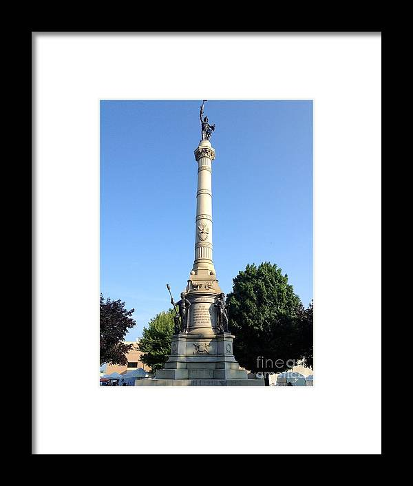 Civil War Memorial Framed Print featuring the photograph Civil Muskegon by Joseph Yarbrough
