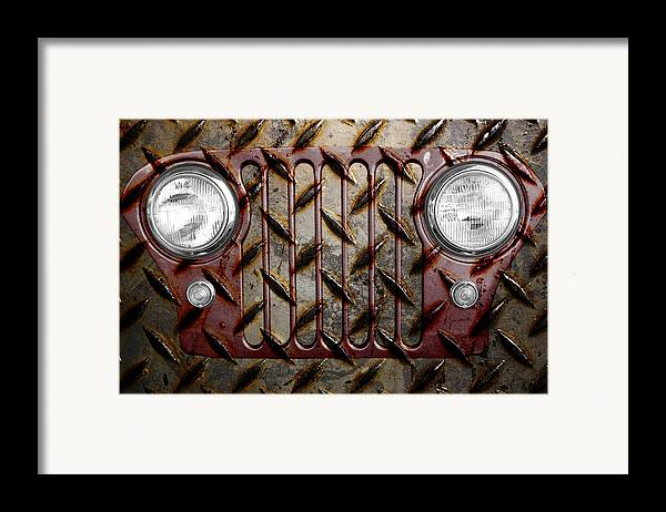 Jeep Framed Print featuring the photograph Civilian Jeep- Maroon by Luke Moore