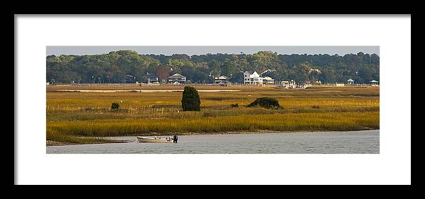 Murrells Inlet Framed Print featuring the photograph Clam Country by Ed Gleichman