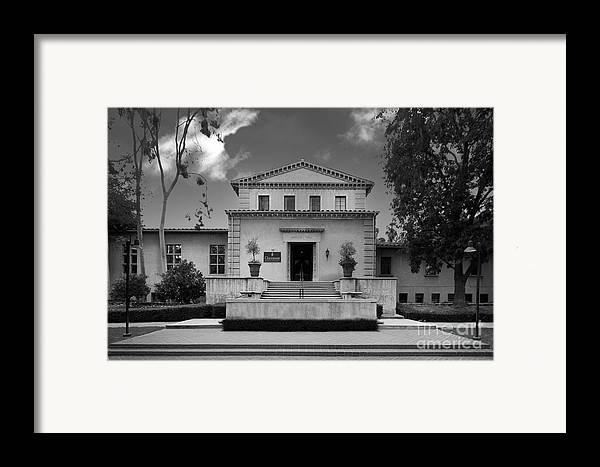 Cgu Framed Print featuring the photograph Claremont Graduate University Harper Hall by University Icons