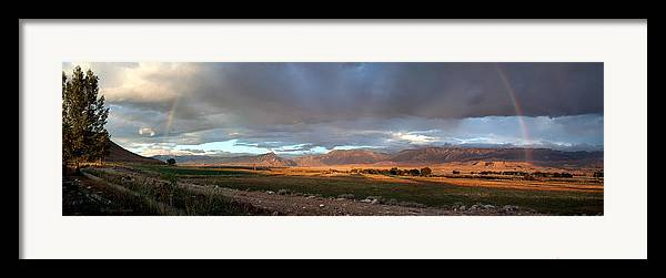 Beautiful Framed Print featuring the photograph Clarks Fork Rainbow by Roger Snyder