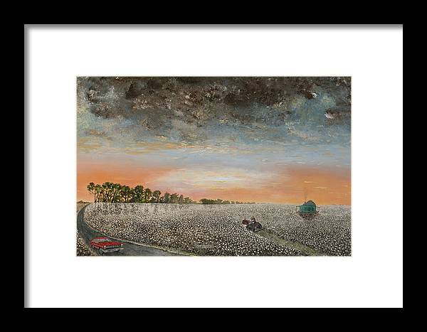 1967 Fairlane Framed Print featuring the painting Clarksdale Mississippi Highway 61 by Richard Barham
