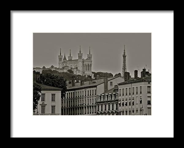 Classic Architecture In Lyon Framed Print featuring the photograph Classic Architecture in Lyon France by Kirsten Giving