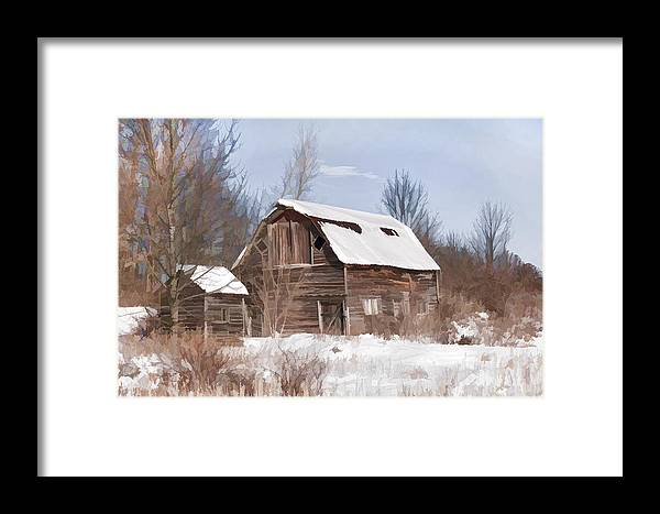 Barn Framed Print featuring the photograph Classic Barn In Snow by Ray Summers Photography