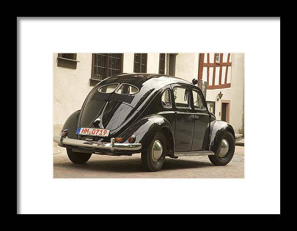 Automobil Framed Print featuring the photograph Classic Beetle 9 by Stefan Bau
