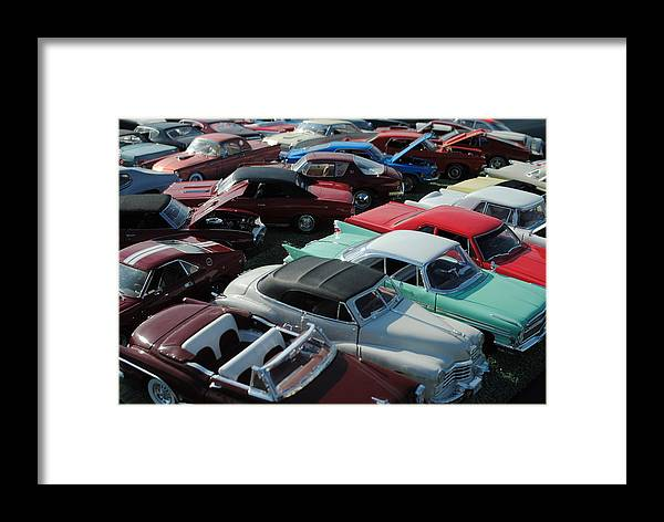 Classic Framed Print featuring the photograph Classic Cars by Frozen in Time Fine Art Photography