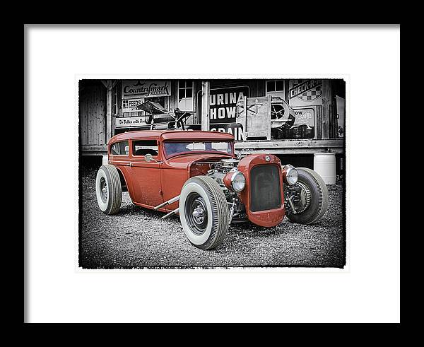 Classic Hot Rod Framed Print featuring the photograph Classic Hot Rod by Thomas Young