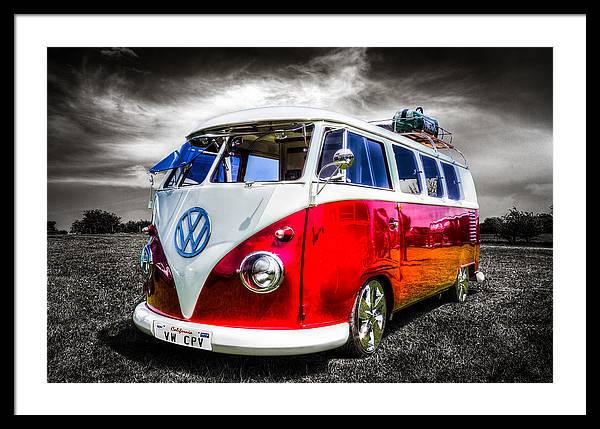 Classic red VW Campavan by Ian Hufton