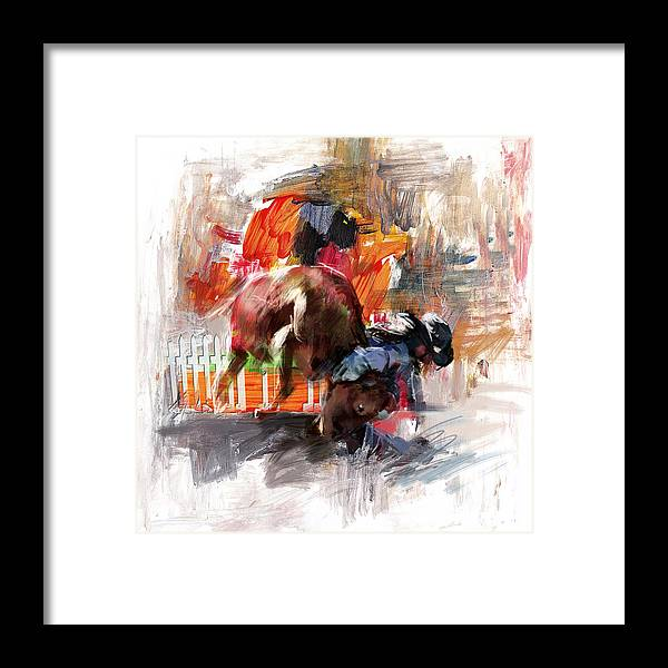 Rodeo Framed Print featuring the painting Classic Rodeo 2b by Maryam Mughal