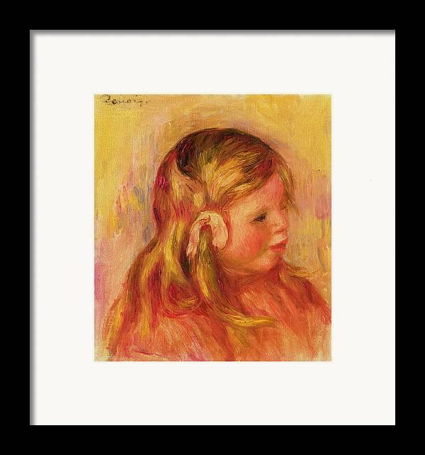 Portrait Framed Print featuring the painting Claude Renoir by Pierre Auguste Renoir