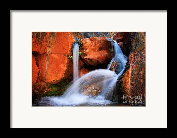 America Framed Print featuring the photograph Clear Creek Falls by Inge Johnsson