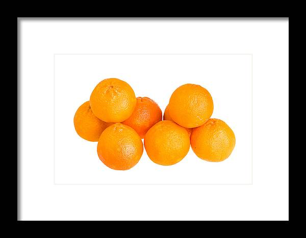 Food Framed Print featuring the photograph Clementine Oranges by John Trax