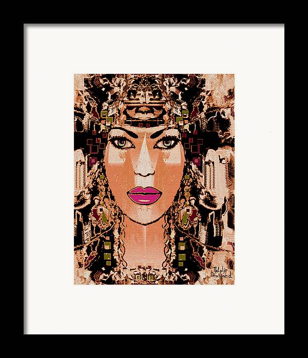 Cleopatra Framed Print featuring the mixed media Cleopatra by Natalie Holland