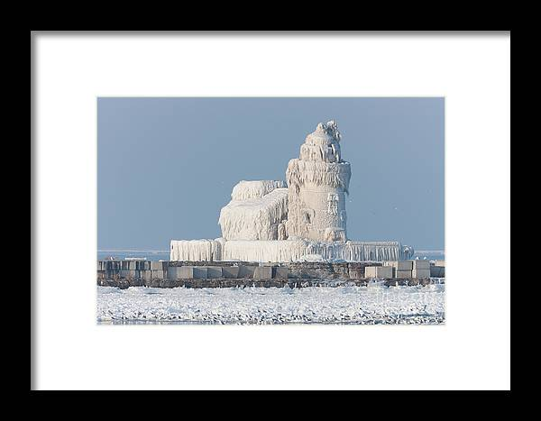 Clarence Holmes Framed Print featuring the photograph Cleveland Harbor West Pierhead Light by Clarence Holmes