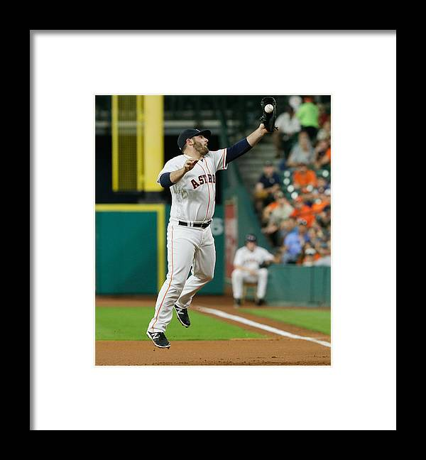 People Framed Print featuring the photograph Cleveland Indians v Houston Astros by Bob Levey