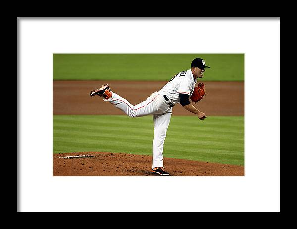 People Framed Print featuring the photograph Cleveland Indians V Miami Marlins by Marc Serota