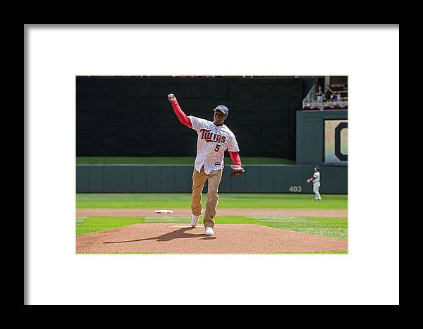 Sport Framed Print featuring the photograph Cleveland Indians V Minnesota Twins by Brace Hemmelgarn