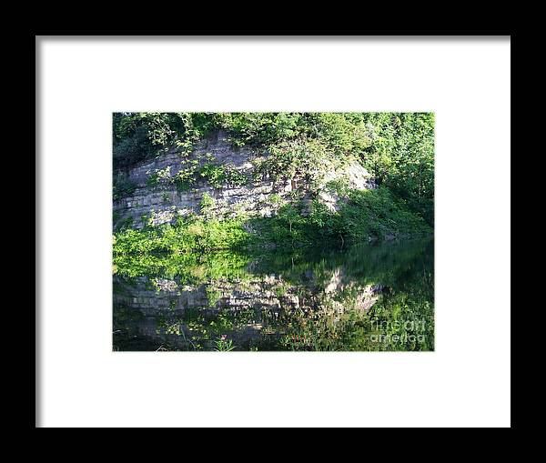 Reflections Of Nature Framed Print featuring the photograph Cliff Reflections Two by Scott B Bennett