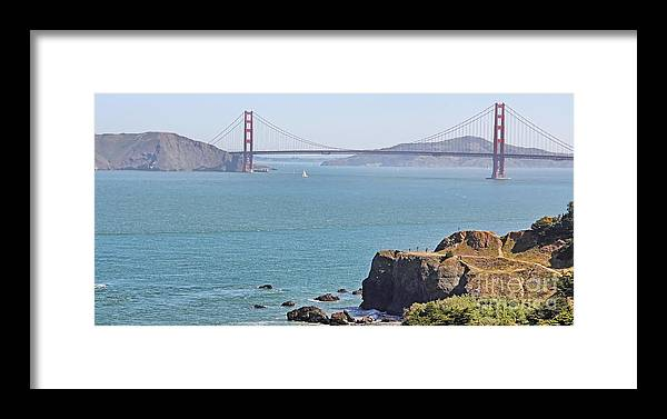 Cliffs Framed Print featuring the photograph Cliffs Near Golden Gate Bridge by Jack Schultz
