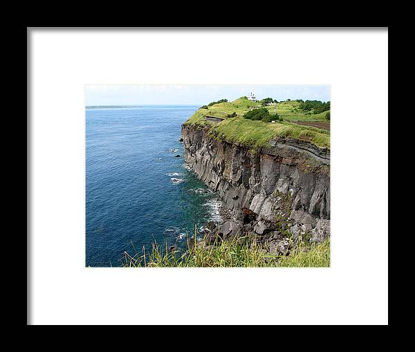 Jeju Framed Print featuring the photograph Cliffs Of Korea by Aaron Evans