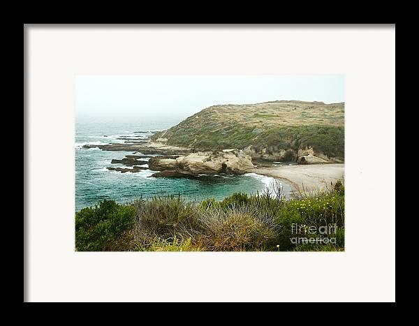 Ocean Framed Print featuring the photograph Cliffs Over Montana De Oro California by Artist and Photographer Laura Wrede