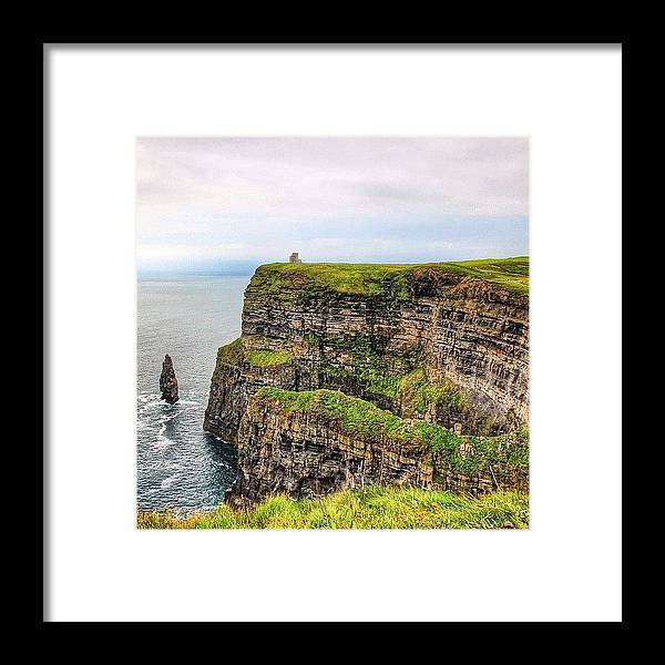 Europe Framed Print featuring the photograph #cliffsofmoher #ireland #landscape by Luisa Azzolini