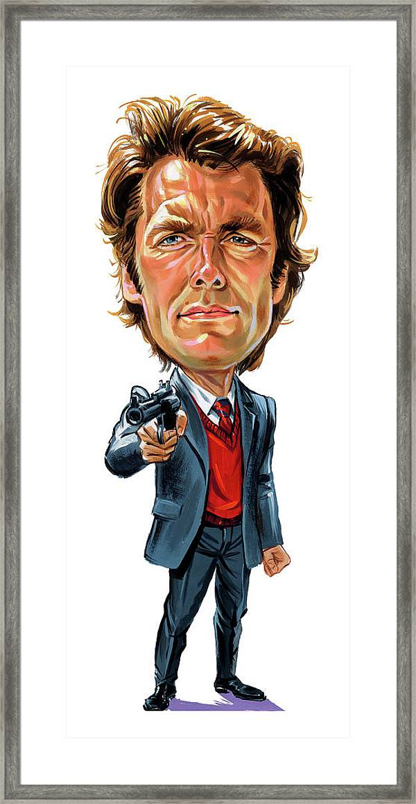 Clint Eastwood Framed Canvas Wall Art Picture Ready To Hang
