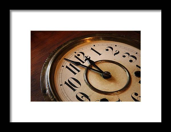 Very Framed Print featuring the photograph Clock face by Johan Swanepoel