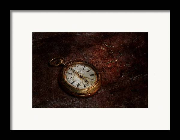 Clockmaker Framed Print featuring the photograph Clock - Time Waits by Mike Savad