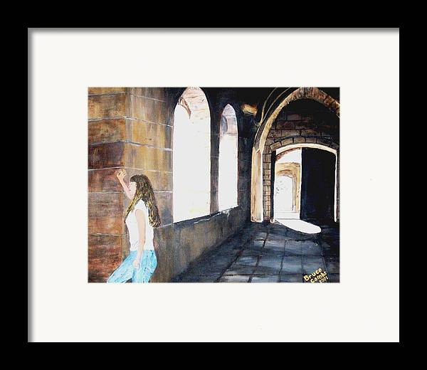 Cloisters Framed Print featuring the painting Cloisters by Bruce Combs - REACH BEYOND