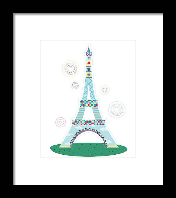 Event Framed Print featuring the digital art Close-up Of Tower by Eastnine Inc.