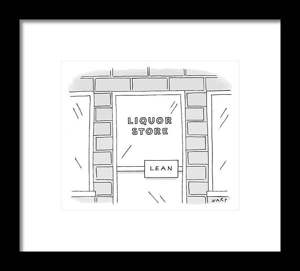 Close Up View Of A Liquor Store With Door Handle Framed Print by Kim ...