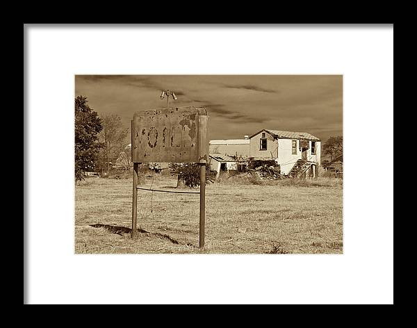 Old Motel Framed Print featuring the photograph Closed For Repairs by Kurt Gustafson