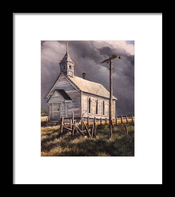 Nature Framed Print featuring the painting Closed On Sundays by Donna Tucker