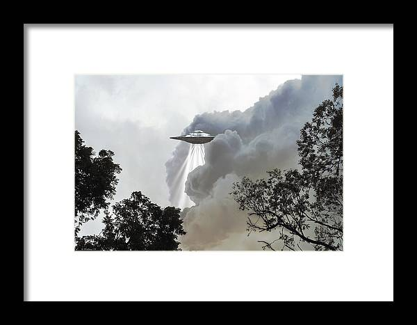 2d Framed Print featuring the photograph Cloud Cover by Brian Wallace